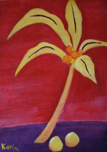 Yellow Palm Art Print