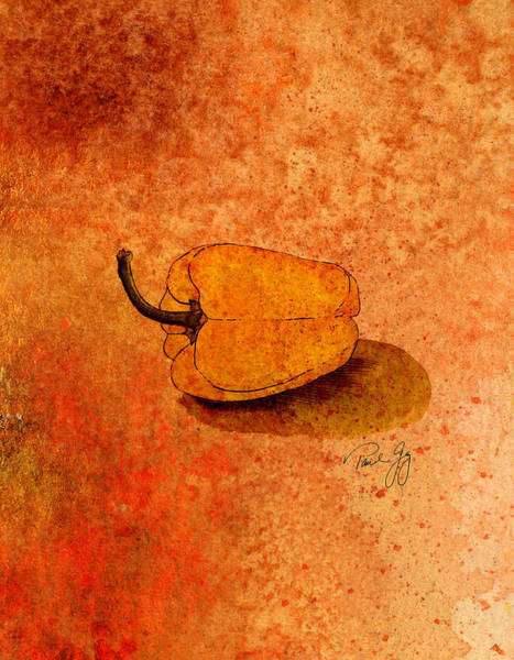 Mixed Media - Yellow Pepper by Paul Gaj