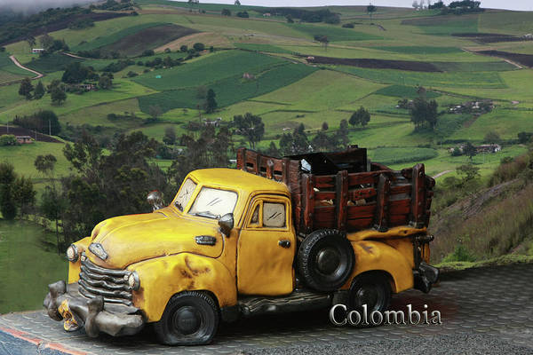 Boyaca Photograph - Yellow Pick-up Truck by Luis Aguirre
