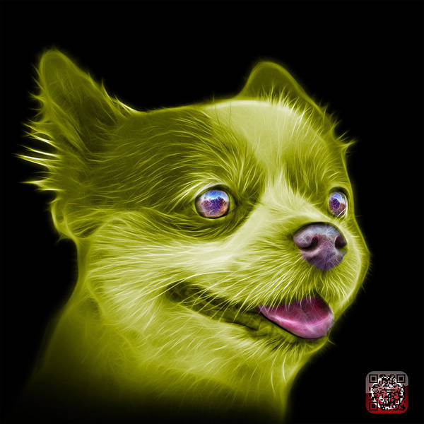 Painting - Yellow Pomeranian Dog Art 4584 - Bb by James Ahn