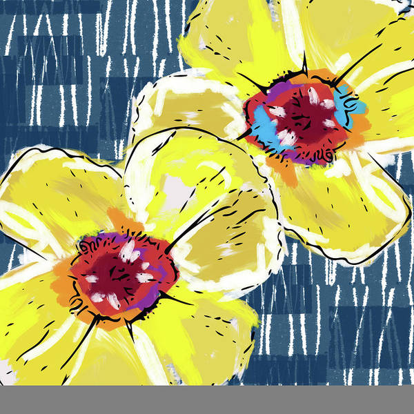 Wall Art - Mixed Media - Yellow Poppies 2- Art By Linda Woods by Linda Woods
