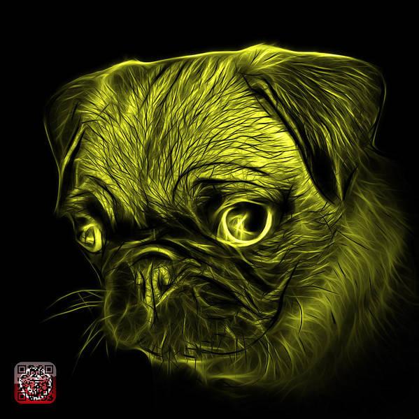Digital Art - Yellow Pug -  9567 Fs B by James Ahn