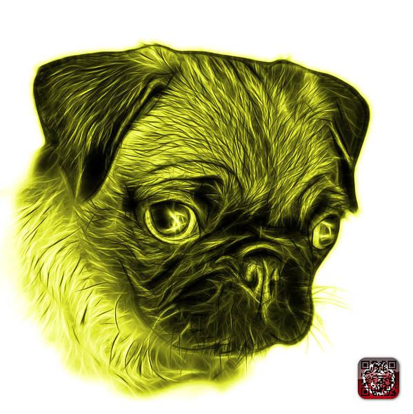 Digital Art - Yellow Pug -  9567 Fs W by James Ahn