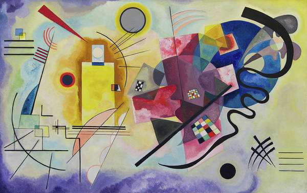 The Blue Rider Wall Art - Painting - Yellow-red-blue by Wassily Kandinsky