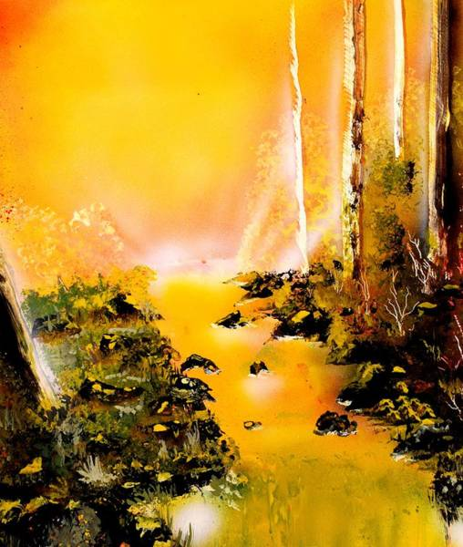 Strange Land Painting - Yellow River by Nandor Molnar