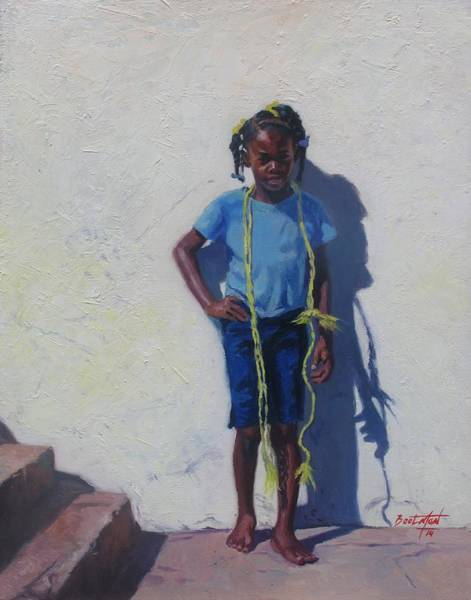 Skipping Painting - Yellow Rope by Colin Bootman