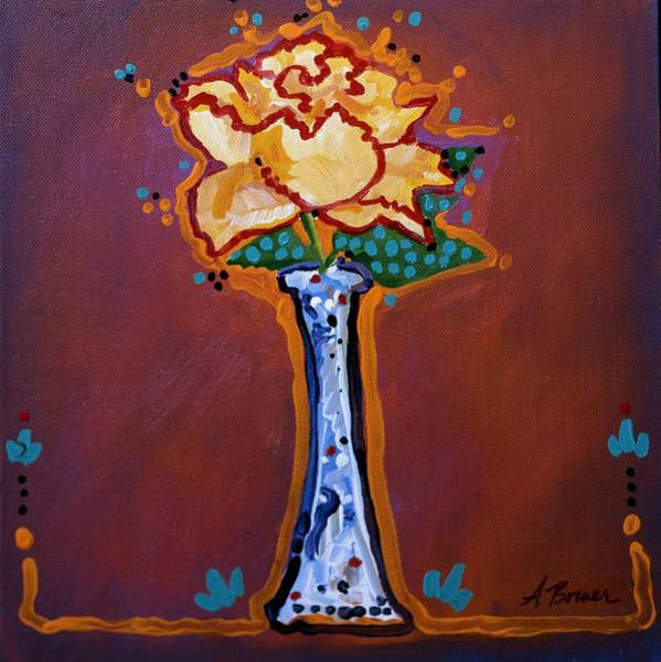 Painting - Yellow Rose by Adele Bower