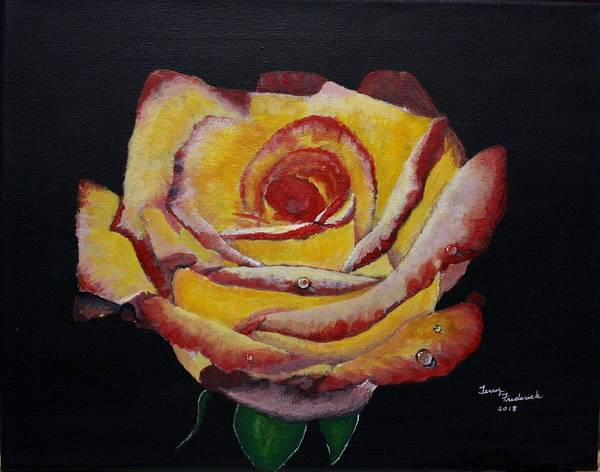Painting - Yellow Rose by Terry Frederick