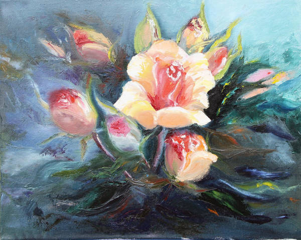 Painting - Yellow Roses by Elena Antakova