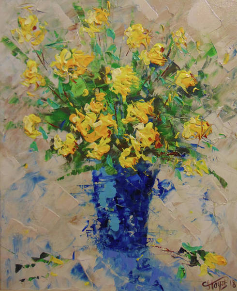 Painting - Yellow Roses by Frederic Payet