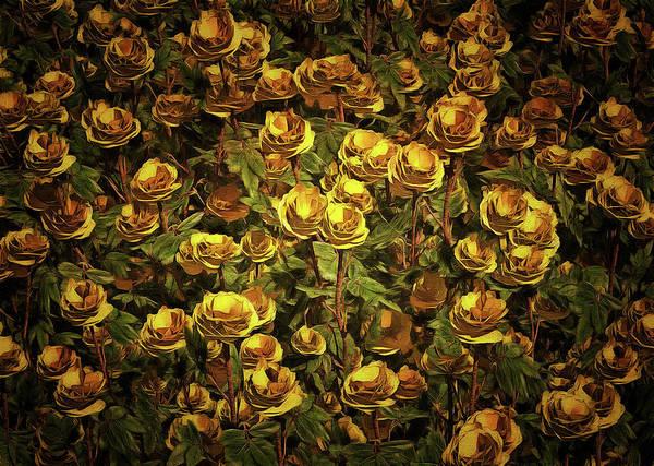Painting - Yellow Roses by Jan Keteleer