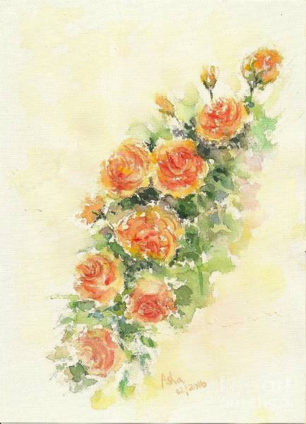 Painting - Yellow Roses Of Texas by Asha Sudhaker Shenoy