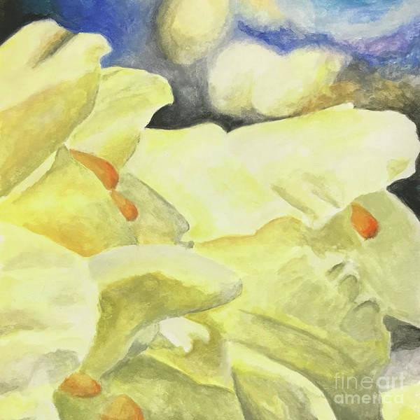 Samantha Painting - Yellow Sakura Of Omiya Sunset Hill by Samantha Horne