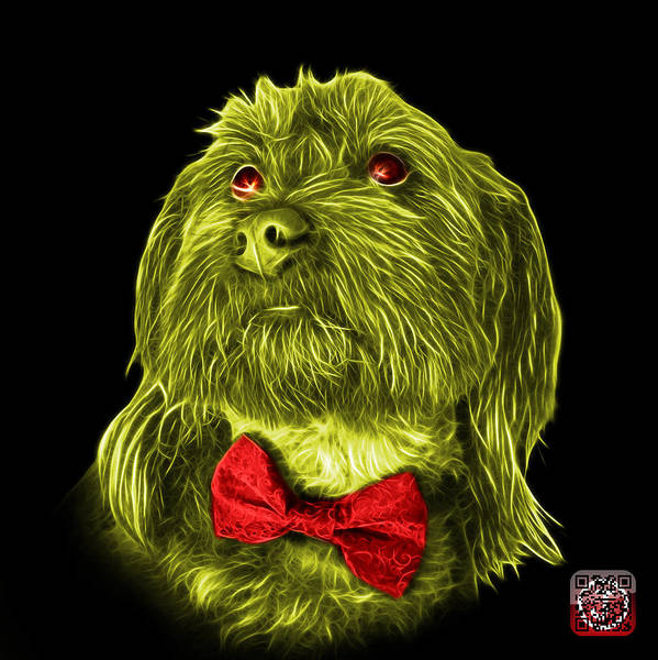 Painting - Yellow Schnoodle Pop Art 3687 - Bb by James Ahn