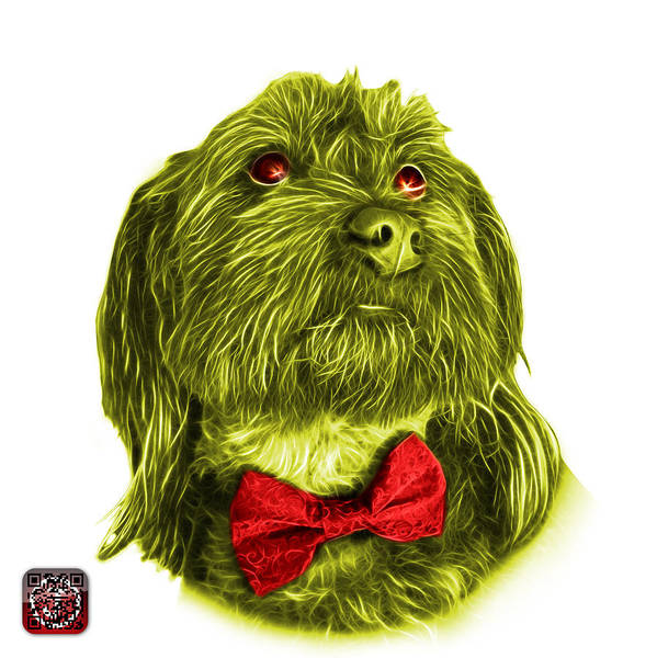 Painting - Yellow Schnoodle Pop Art - 3687 by James Ahn