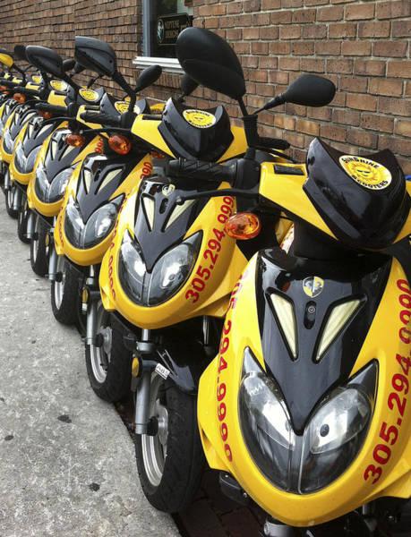 Photograph - Yellow Scooters by Karen Zuk Rosenblatt