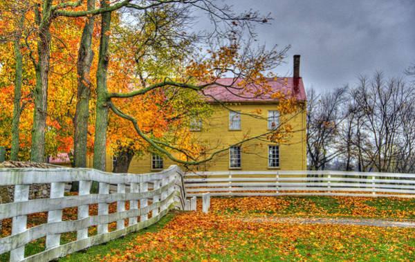 Photograph - Yellow Shaker House 4 by Sam Davis Johnson