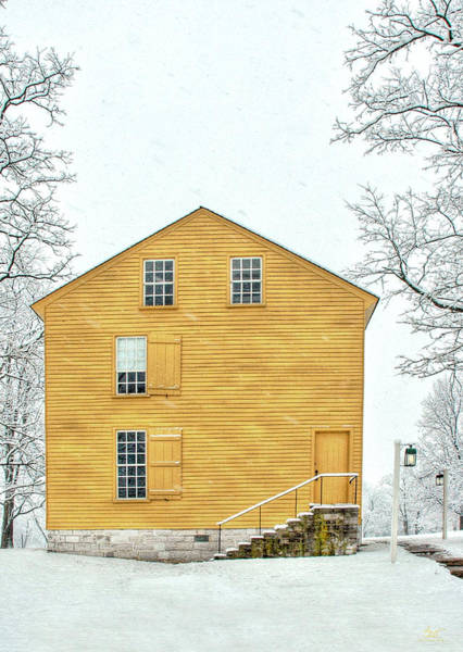 Photograph - Yellow Shaker House In Winter by Sam Davis Johnson
