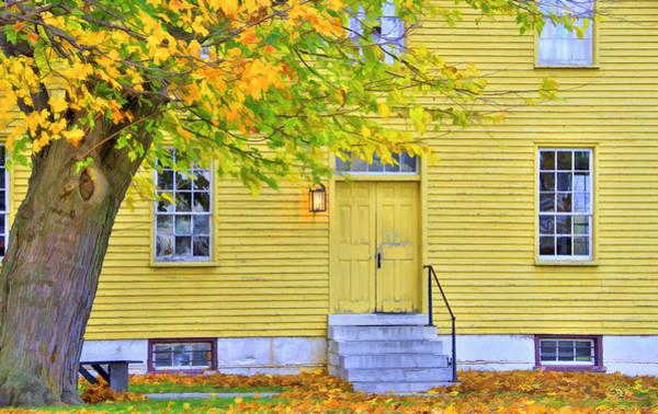 Photograph - Yellow Shaker House by Sam Davis Johnson