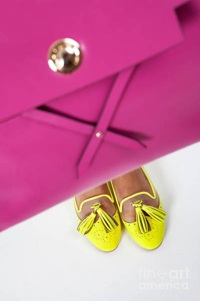 Photograph - Yellow Shoes And A Pink Bag by Andrey  Godyaykin