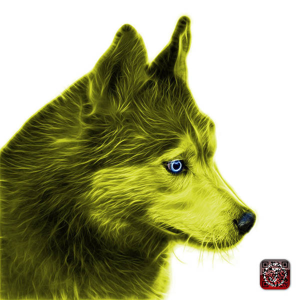 Painting - Yellow Siberian Husky Art - 6048 - Wb by James Ahn