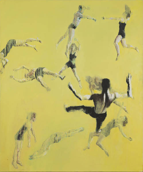 Trapeze Painting - Yellow Spin by Nicholas Stedman