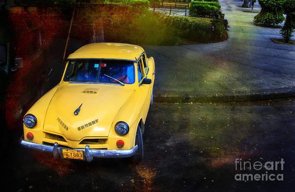Photograph - Cuban Yellow Sports Car by Craig J Satterlee
