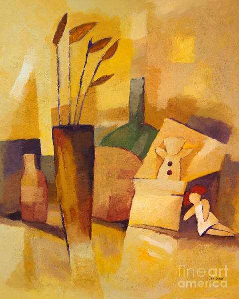 Painting - Yellow Still Life by Lutz Baar