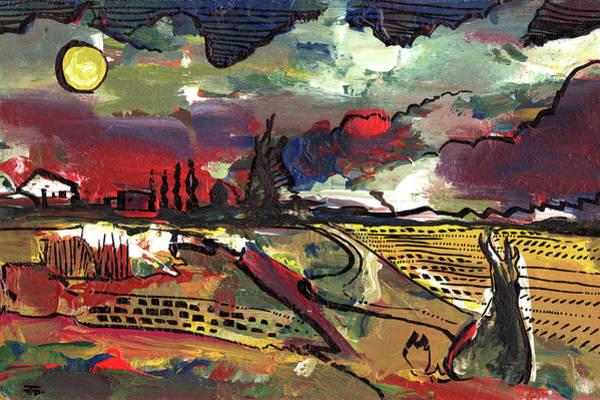 Painting - Yellow Sun by John Jr Gholson