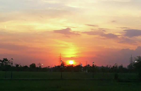 Photograph - Yellow Sunset At Park by Atullya N Srivastava