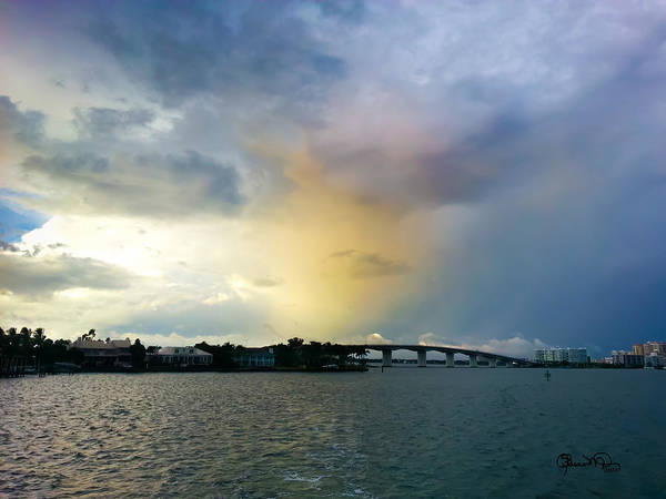 Photograph - Yellow Sunset Over Ringling Bridge by Susan Molnar