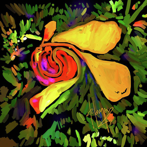 Painting - Yellow Swirl by DC Langer