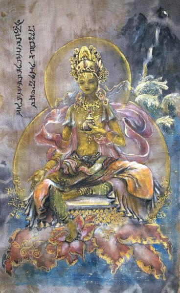 Tara Painting - Yellow Tara  by Silk Alchemy
