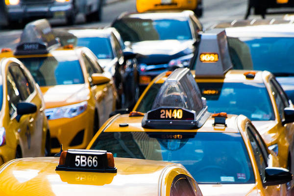 Photograph - Yellow Taxis by SR Green