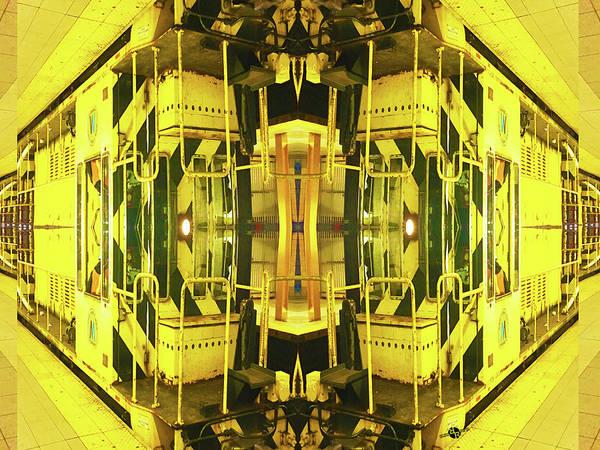 Mixed Media - Yellow Train by Tony Rubino