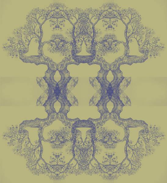 Yellow Tree 14 Hybrid 4 Art Print