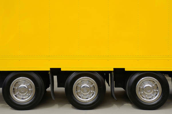 Road Side Photograph - Yellow Truck by Carlos Caetano