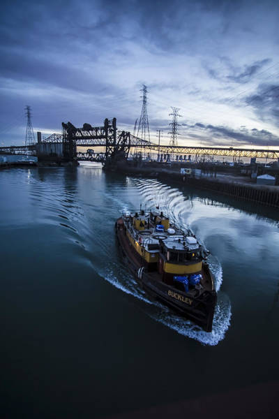 Photograph - Yellow Tug Boat Approaching  by Sven Brogren