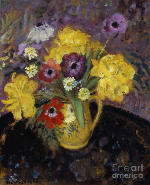 Potted Plant Painting - Yellow Tulips by Frederick Carl Frieseke