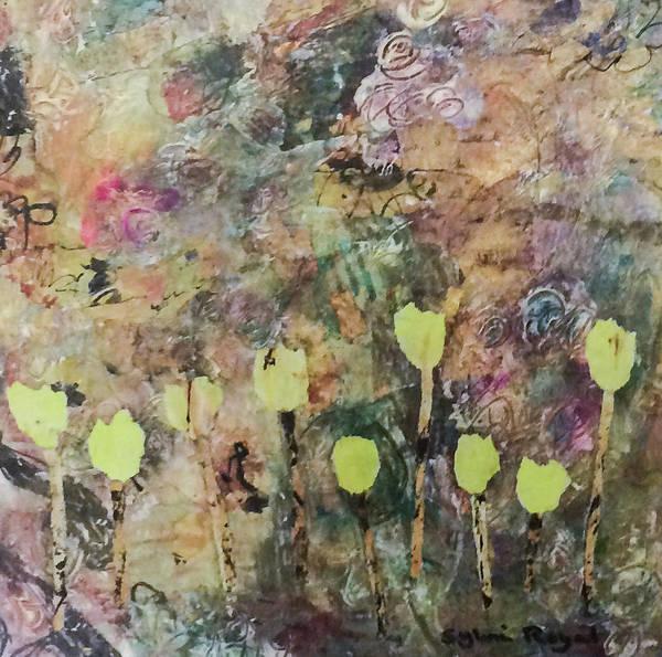 Wall Art - Painting - Yellow Tulips by Sylvia Royal