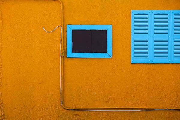 Photograph - Yellow Wall, Blue Trim by Dart and Suze Humeston