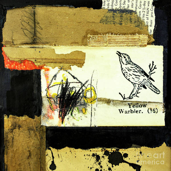 Mixed Media - Yellow Warbler by Elena Nosyreva