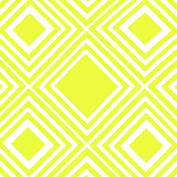 Wall Art - Photograph - Yellow White Pattern By Kaye Menner by Kaye Menner