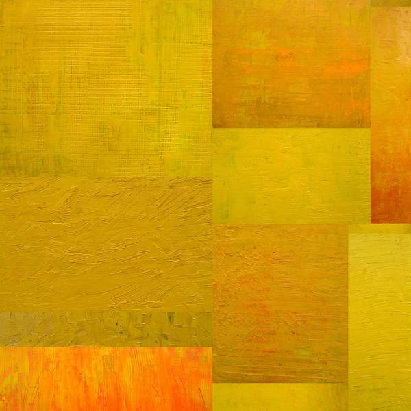 Painting - Yellow With Orange 2.0 by Michelle Calkins
