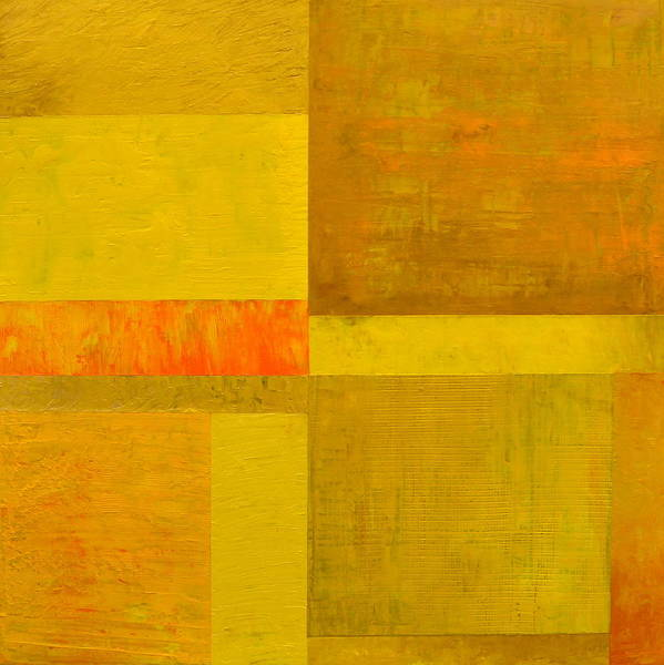 Painting - Yellow With Orange by Michelle Calkins