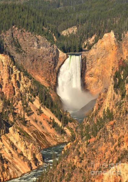 Photograph - Yellowstone Canyon Lower Falls by Adam Jewell
