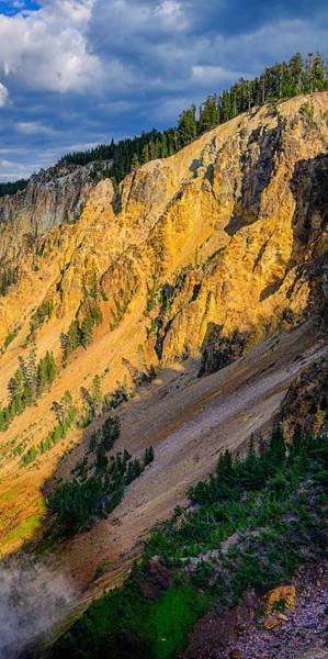 Photograph - Yellowstone Canyon Triptych Right Panel by Greg Norrell