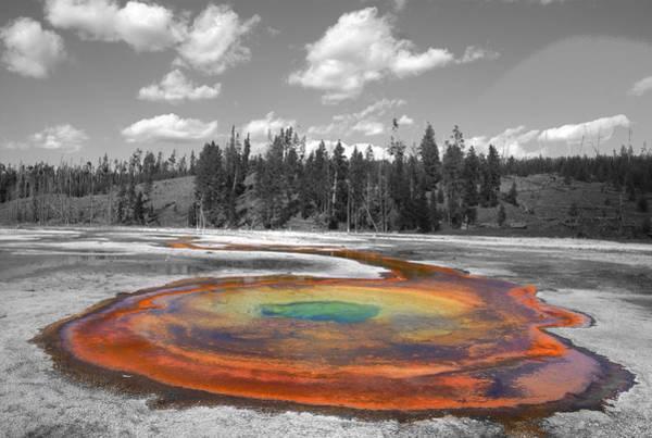 Wall Art - Photograph - Yellowstone Geyser Colors by Patrick  Flynn