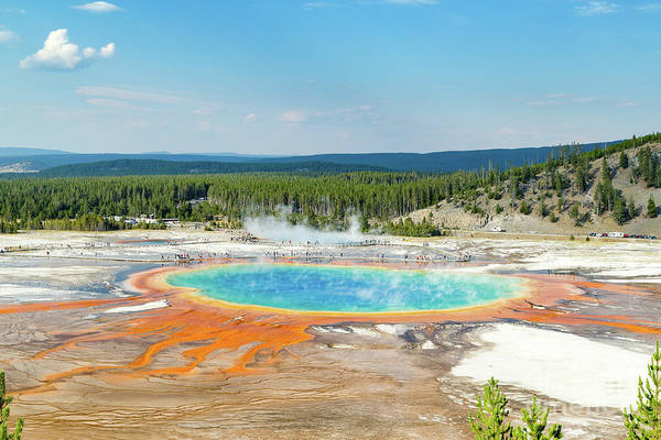 Photograph - Yellowstone Grand Prismatic Spring  by Andy Myatt