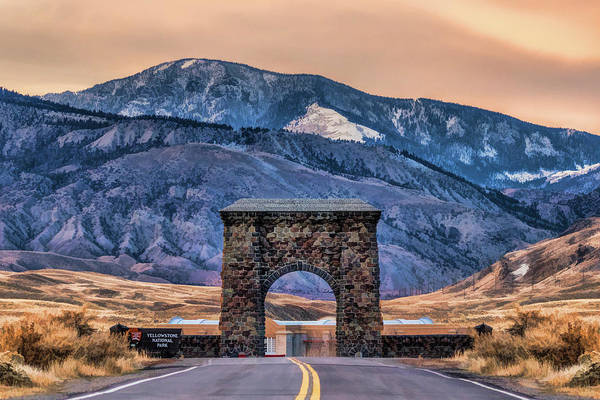 Painting - Yellowstone National Park North Entrance by Christopher Arndt